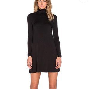 LA Made Black Turtleneck Shirt Dress